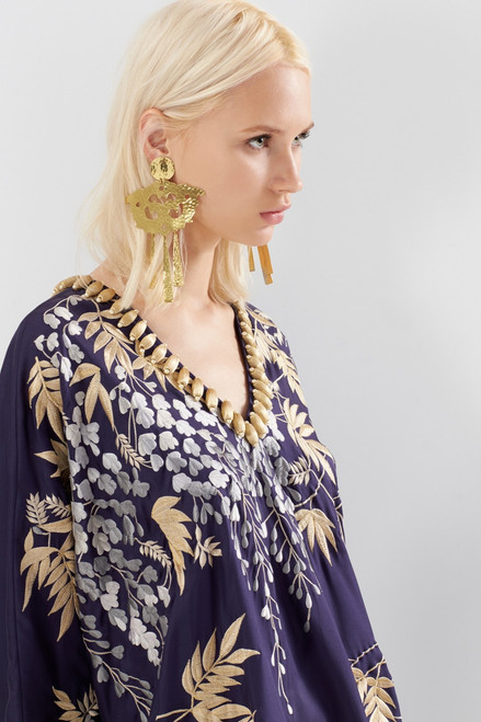 Josie Natori Couture Vines Caftan at The Natori Company