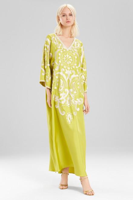 Josie Natori Couture Graphic Suzani Caftan at The Natori Company