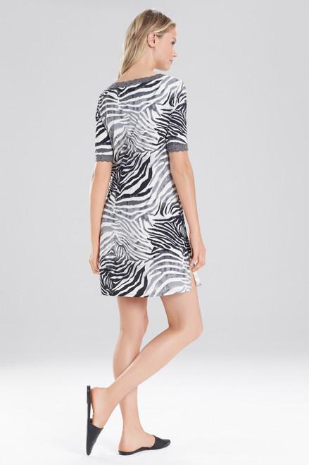 Natori Feathers Essential Zebra Sleepshirt at The Natori Company