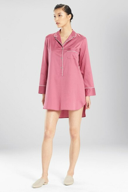 Buy Natori Solid Cotton Sateen Essentials Sleepshirt from
