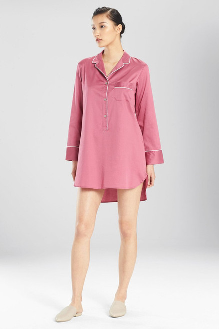 Buy Natori Solid Cotton Sateen Essentials Sleepshirt from