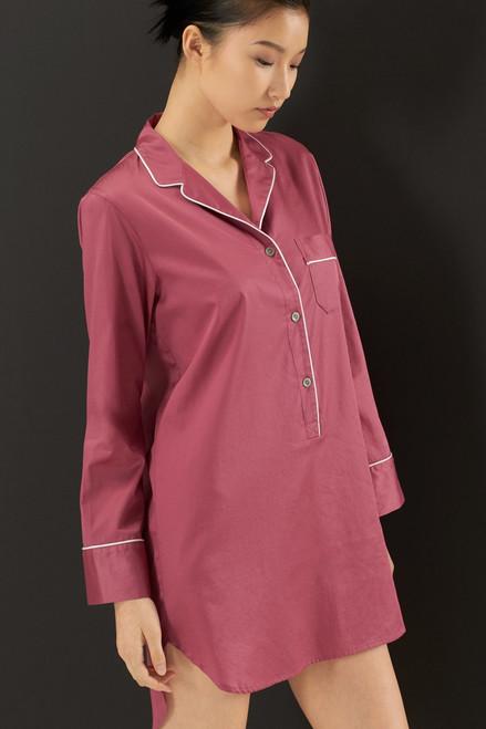 Natori Solid Cotton Sateen Essentials Sleepshirt at The Natori Company