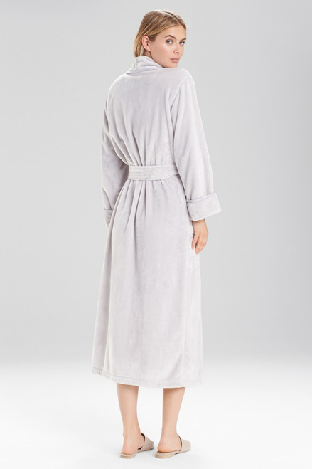 Natori Plush With Satin Twill Robe at The Natori Company