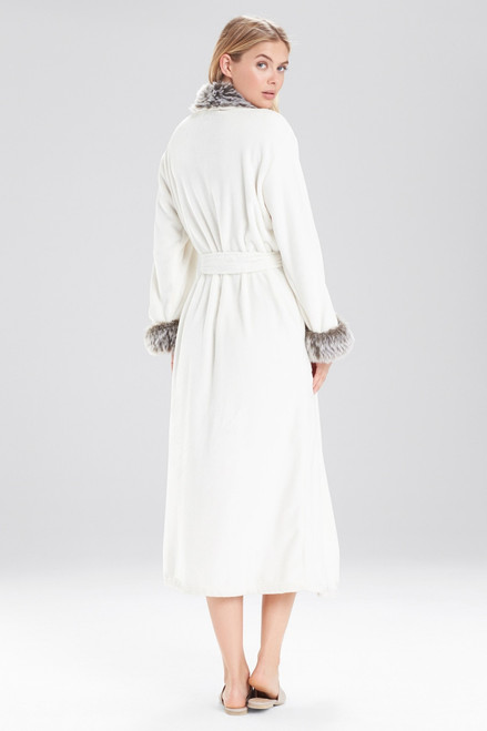 Natori Frosted Faux Fur Robe at The Natori Company