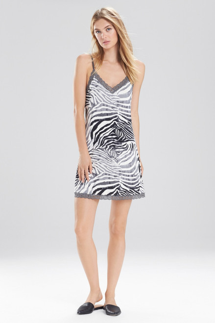 Natori Feathers Essential Zebra Chemise at The Natori Company