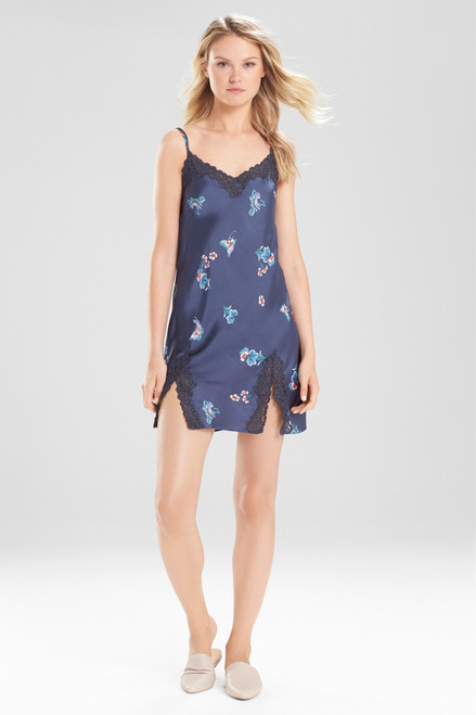 Buy Natori Papillon Printed Feathers Satin Chemise from
