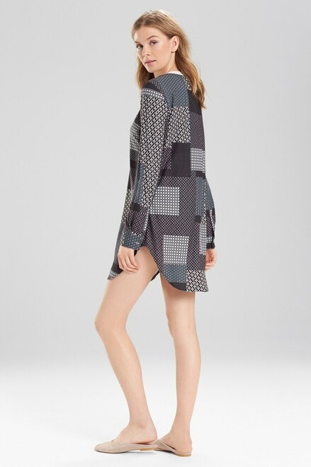 Josie Madly Deeply Sleepshirt Oyster/Grey/Black at The Natori Company
