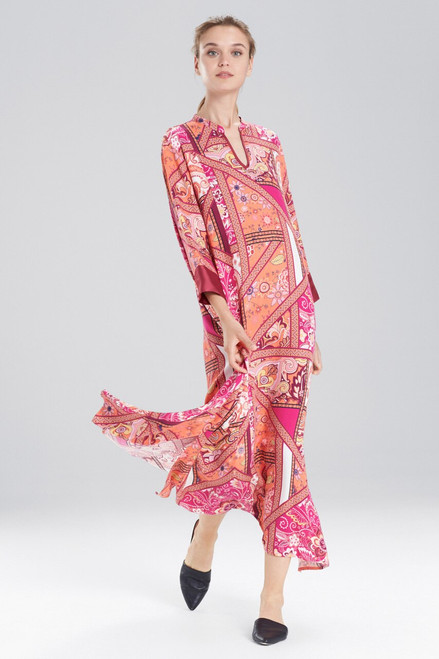 Buy N Natori Bandana Rose Caftan from