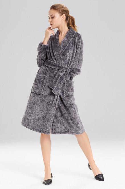 N Natori Plush Melange Robe at The Natori Company