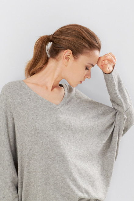 N Natori Retreat Jersey Sweater Knit Top at The Natori Company