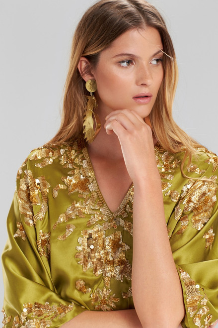 Josie Natori Couture Beaded Suzani Caftan at The Natori Company