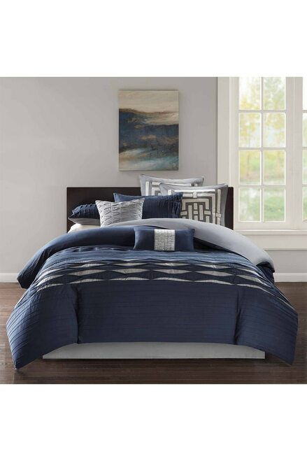 Buy N Natori Nara Navy Comforter Set from