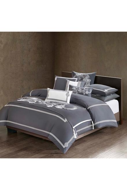 Natori Sterling Dragon Square Pillow at The Natori Company