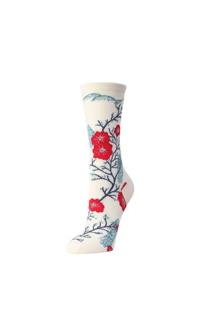 Buy Natori Plum Blossom Crew Socks from