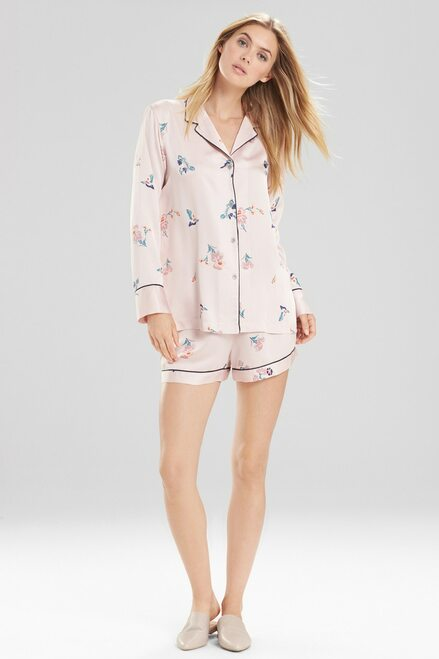 Buy Natori Papillon Printed Feathers Satin Short PJ Set from