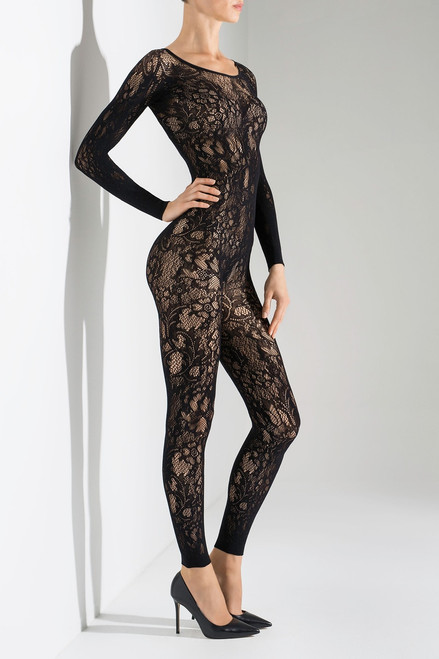 Natori Floral Romance Long Sleeve Catsuit at The Natori Company