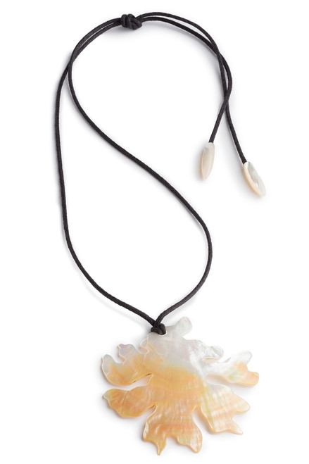 Josie Natori Mother Of Pearl Coral Necklace at The Natori Company