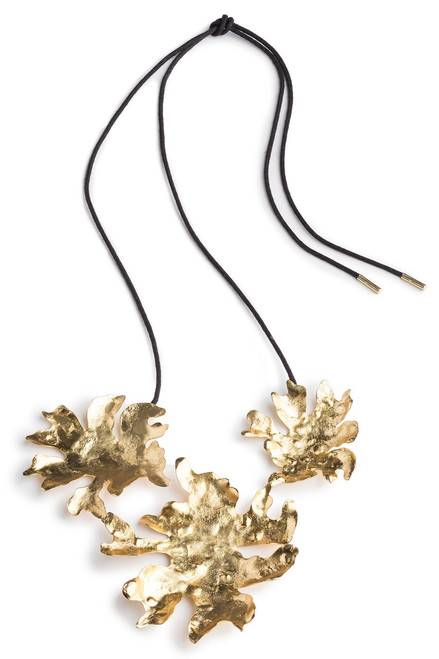 Josie Natori Gold Brass Triple Necklace at The Natori Company