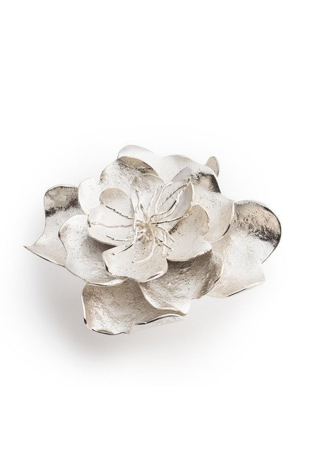 Josie Natori Silver Plated Brass Peony Ring at The Natori Company
