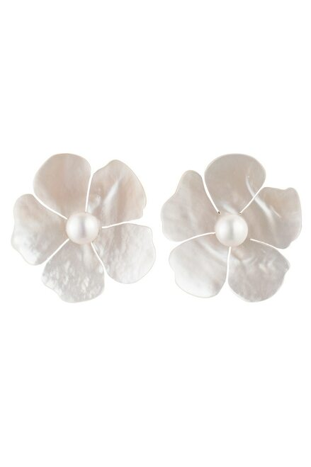 Buy Josie Natori Mother Of Pearl Peony Earrings from