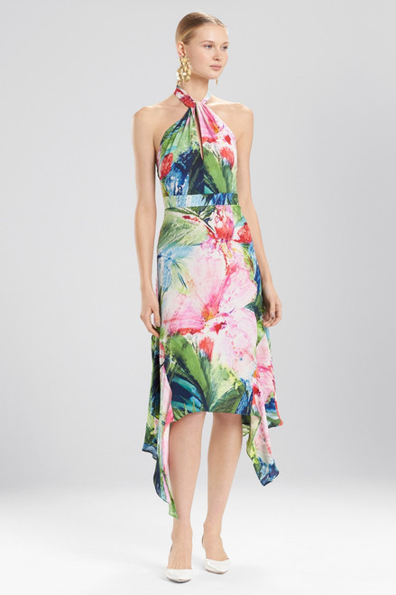 Buy Josie Natori Sunset Palms Halter Maxi Dress from