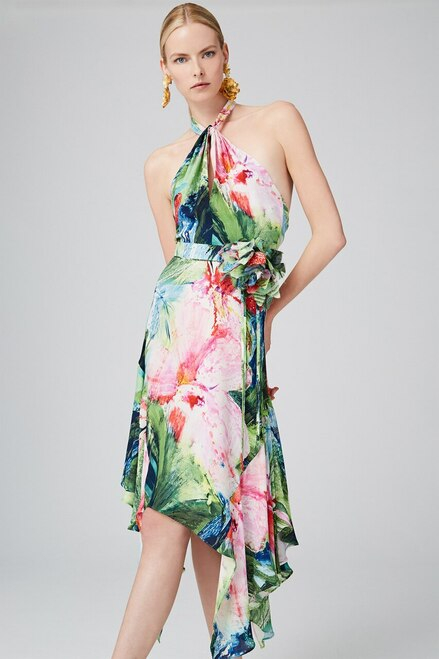 Josie Natori Sunset Palms Halter Maxi Dress at The Natori Company