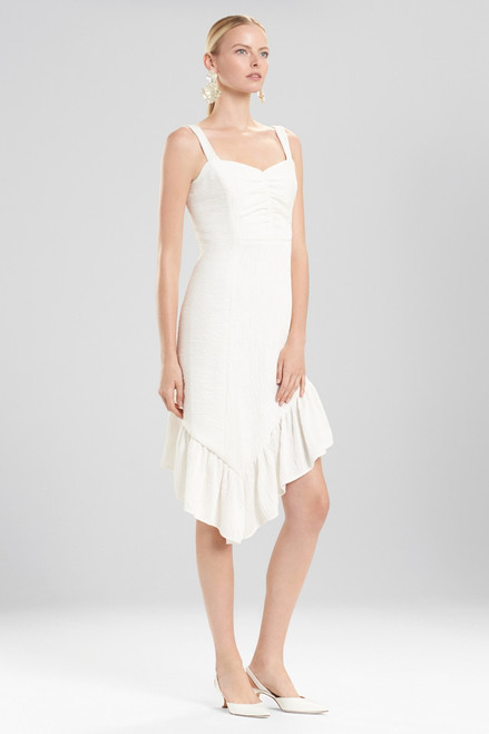 Buy Josie Natori Plisse Asymmetrical Ruffle Dress from