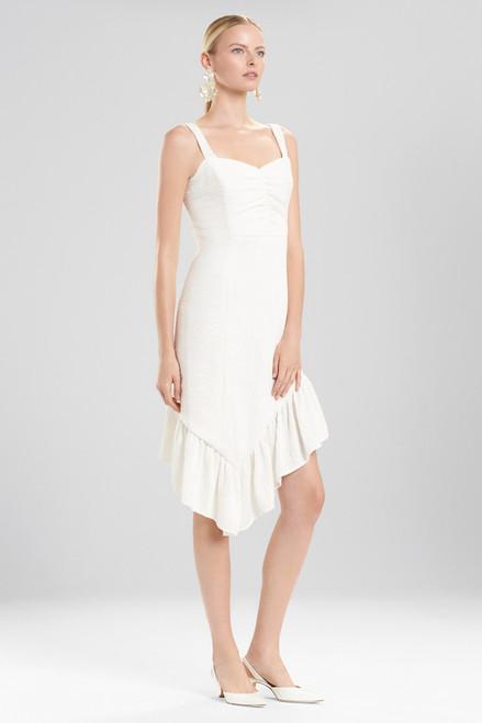 Buy Josie Natori Plisse Asymmetrical Ruffle Dress from