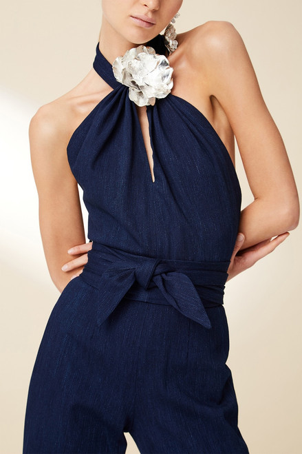Josie Natori Denim Jumpsuit at The Natori Company