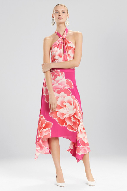 Buy Josie Natori Peony Halter Dress from