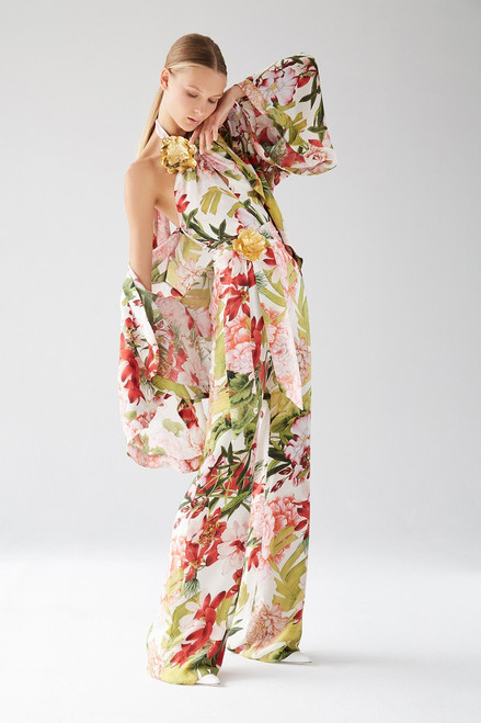 Josie Natori Paradise Floral Jumpsuit at The Natori Company