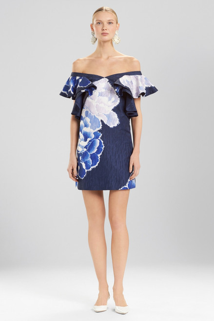 Buy Josie Natori Peony Jacquard Cold Shoulder Dress from