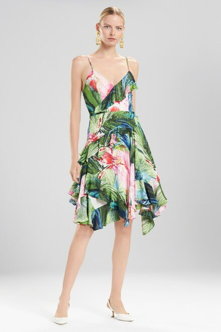 Buy Josie Natori Sunset Palms Ruffle Slip Dress from