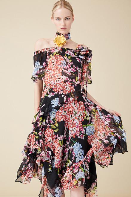 Josie Natori Hokkaido Blossom Dress at The Natori Company