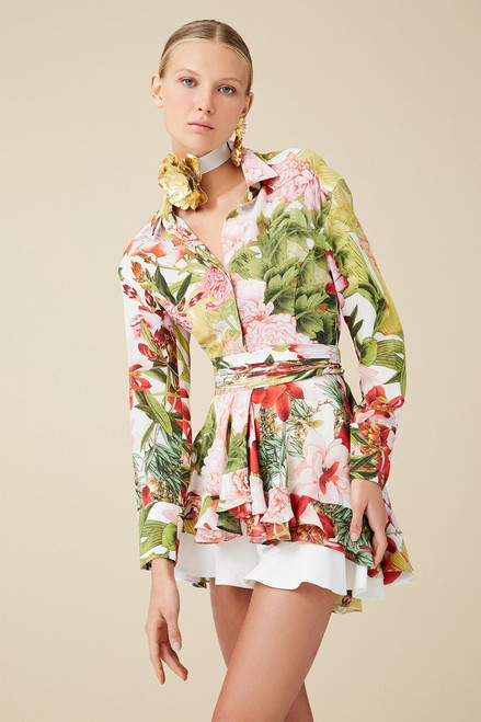 Josie Natori Paradise Floral Top at The Natori Company