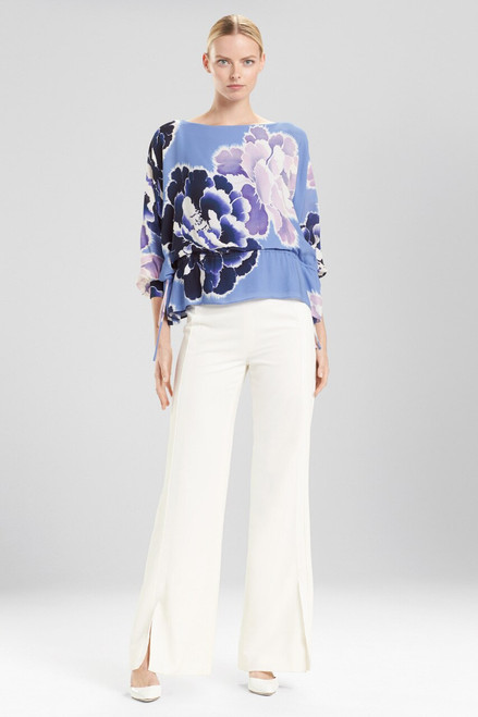 Buy Josie Natori Peony Poet Sleeve Top from