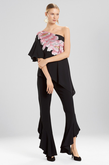 Buy Josie Natori Silky Soft Waterfall Top With Embroidery from