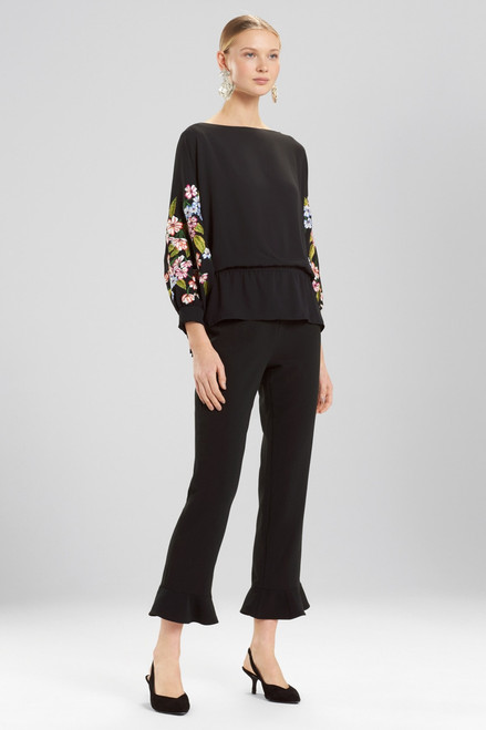 Buy Josie Natori Silky Soft Poet Top With Embroidery from