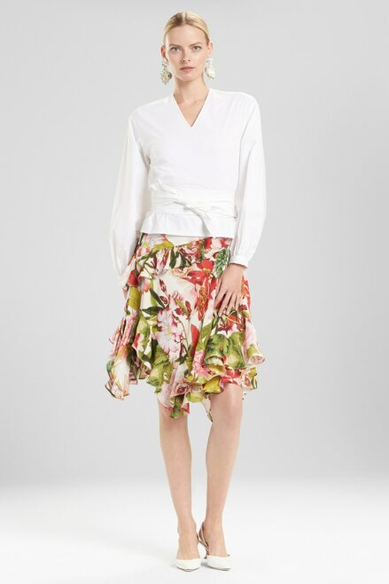 Buy Josie Natori Cotton Poplin Belted Top from