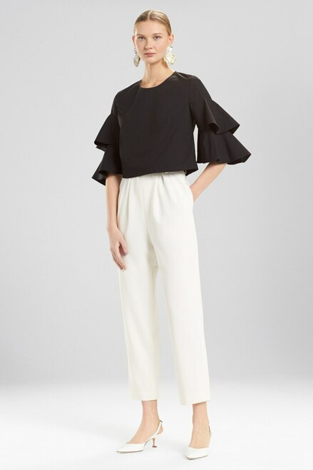 Buy Josie Natori Cotton Poplin Tiered Sleeve Top from