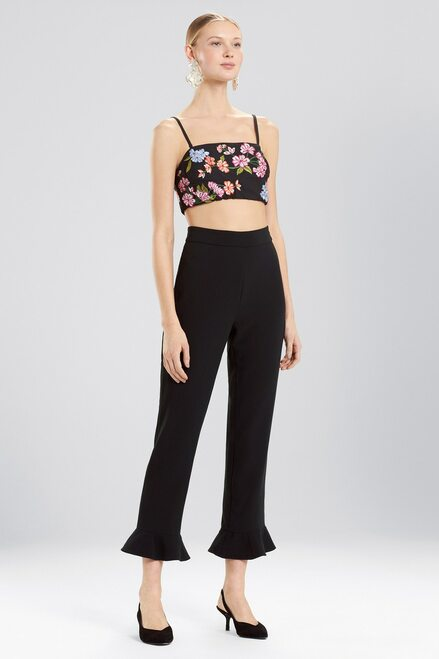 Buy Josie Natori Cotton Poplin Bralette With Embroidery from