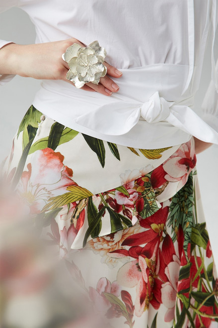 Josie Natori Paradise Floral Skirt at The Natori Company