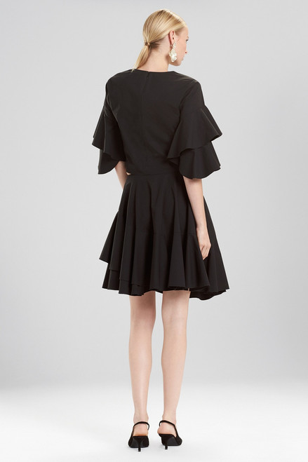 Josie Natori Cotton Poplin Tie Front Skirt at The Natori Company
