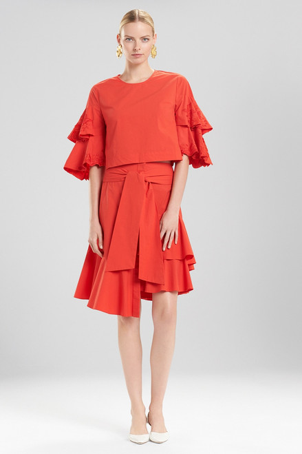 Buy Josie Natori Cotton Poplin Tie Front Skirt from