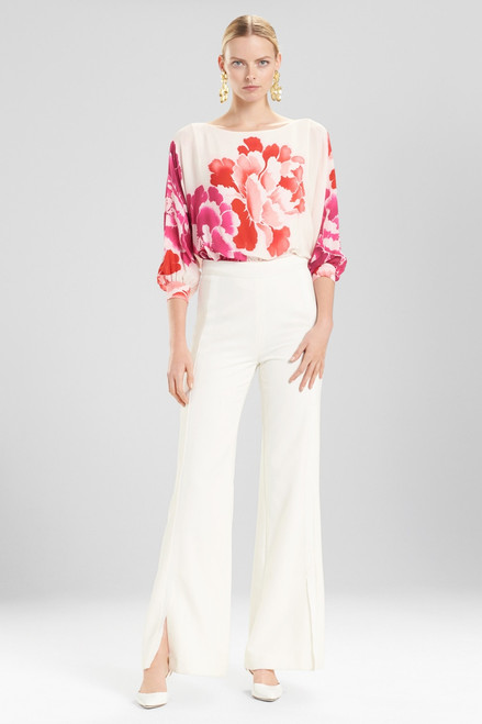 Buy Josie Natori Core Crepe Grosgrain Seamed Pants from