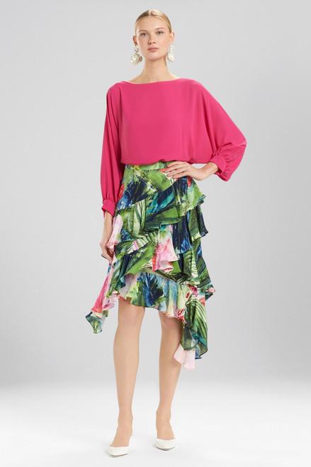 Josie Natori Sunset Palms Skirt at The Natori Company