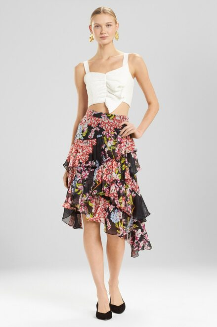 Josie Natori Hokkaido Blossom Skirt at The Natori Company