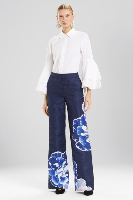 Buy Josie Natori Peony Jacquard Wide Leg Pants from