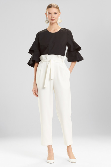 Buy Josie Natori Core Crepe Paper Bag Waisted Pants from