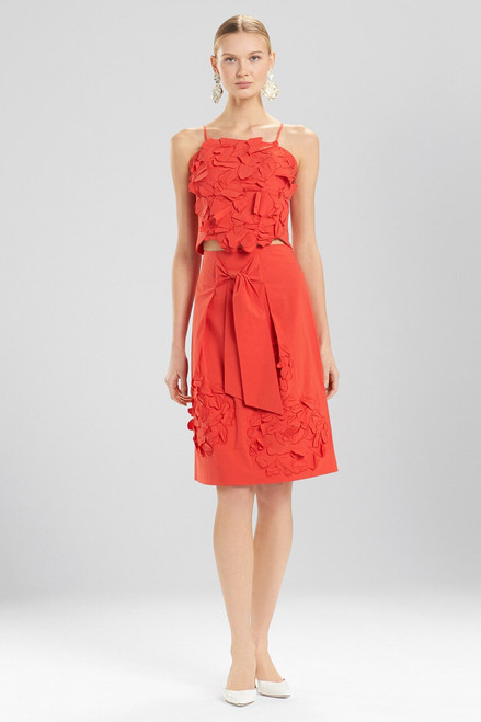 Buy Josie Natori Cotton Poplin Skirt With Embroidery from